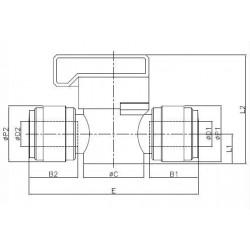 Valves - HBVU-M - FluidFit HBVU shut-off valve (mm)