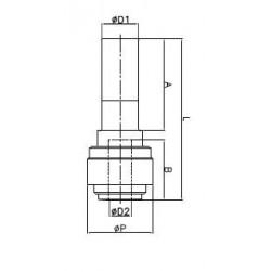 Adaptrar förminskning/förstoring - HGJ-I - FluidFit HGJ förminsknings- & förstoringskoppling (tum)