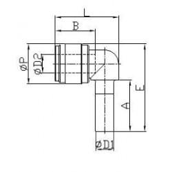 Vinkelkopplingar - HLJ-I - FluidFit HLJ snabbkoppling vinkelkoppling (tum)