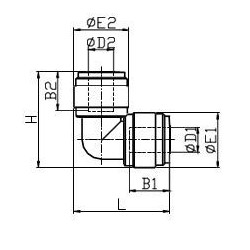 Vinkelkopplingar - HUL-I - FluidFit HUL vinkelkoppling (tum)