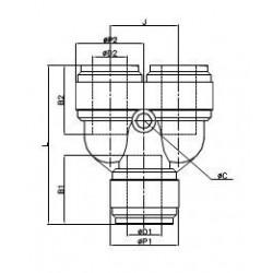 Fördelare - HUY-I - FluidFit HUY snabbkoppling Y-koppling (tum)