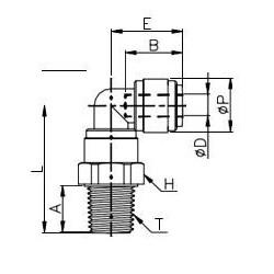 Vinkelkopplingar - HRPL-I - FluidFit HRPL snabbkoppling vridbar vinkelkoppling med utvändig gänga NPTF (tum)