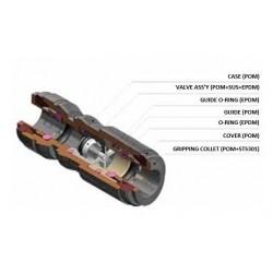 Backventiler - HCVU-I - FluidFit HCVU Check valve (inch)