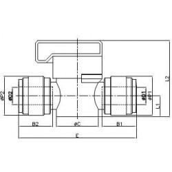 Kranar och ventiler - HBVU-I - FluidFit HBVU Avstängningskran (tum)