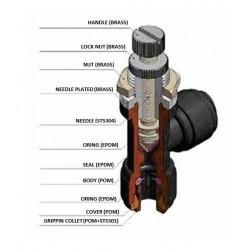 Valves - HSLB-I - FluidFit HSLB Elbow bulkhead flow regulator (inch)