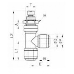 Kranar och ventiler - HSLB-I - FluidFit HSLB flödesregleringsventil i vinkel för inbyggnad (tum)