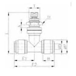 Valves - HSTB-I - FluidFit HSTB Bulkhead flow regulator (inch)