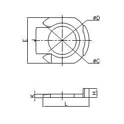 Locking clip - HCP - FluidFit HCP Locking clip