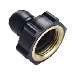 Internal thread - HCF-NH-M  - FluidFit HCF-NH Female adapter thread in brass (mm)
