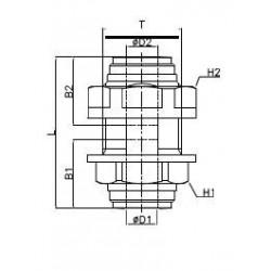 Genomföring - HMM-I - FluidFit HMM snabbkoppling genomföring (tum)