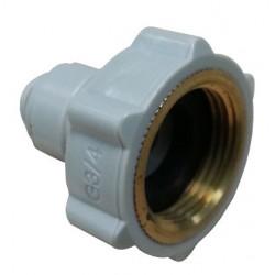 Internal thread - HCF-NH-I - FluidFit HCF-NH female adapter NH (3/4 thread in brass) (inch)