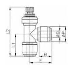 Valves - HSLU-M - FluidFit HSLU Elbow flow regulator (mm)